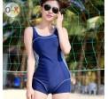 ชุดว่ายน้ำ วันพีช แบบ สปอร์ต สีน้ำเงิน ดีไซน์ เป็น กางเกงขาสั้น ชุดว่ายน้ำเล่น วัลเล่ย์บอล ชายหาด สีน้ำเงิน กรมท่า ใส่สบาย  875601