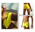 กางเกงว่ายน้ำผู้ชาย สไตล์ Boxers สีเหลือง สินค้าคุณภาพส่งออก size L